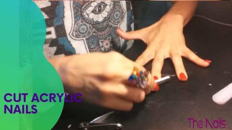Cut Acrylic Nails