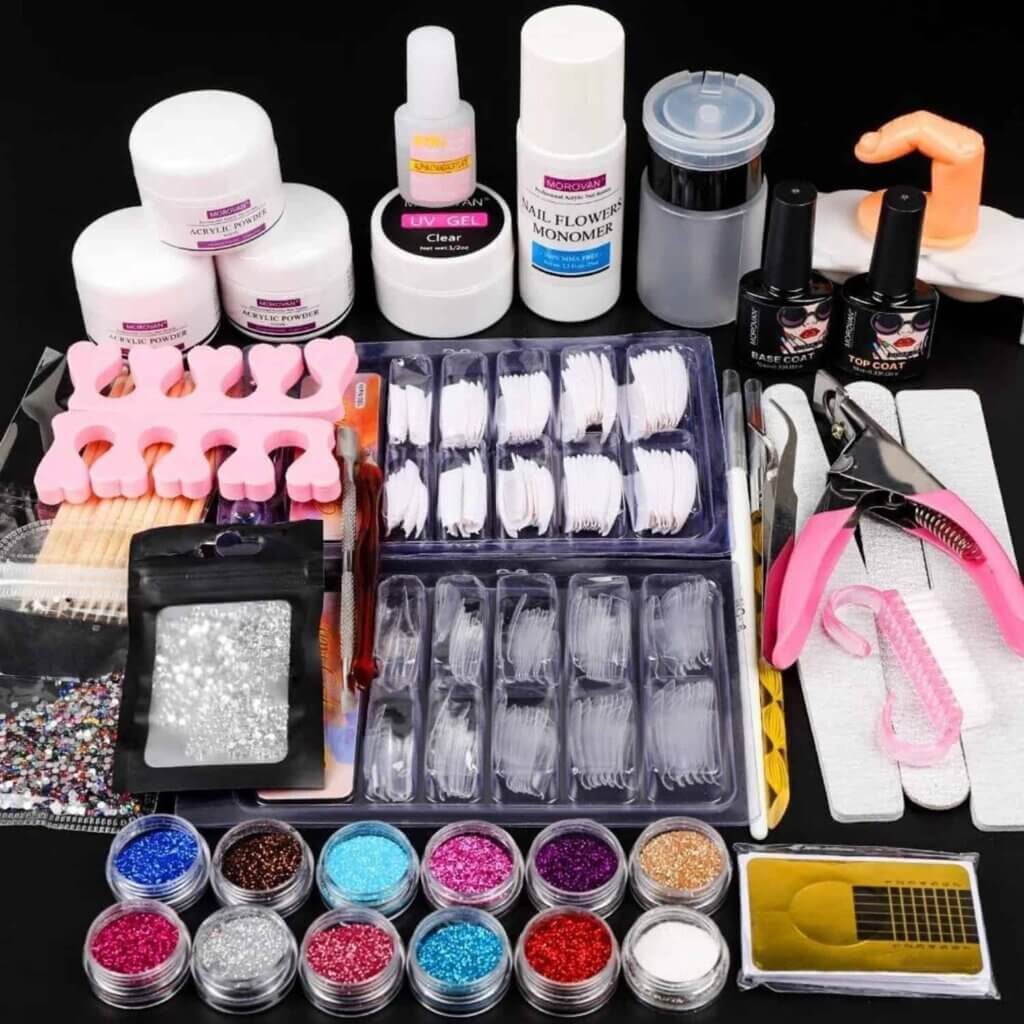 12 Glitter Acrylic Powder Kit